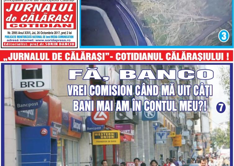 articol banci Jurnalul de Calarasi