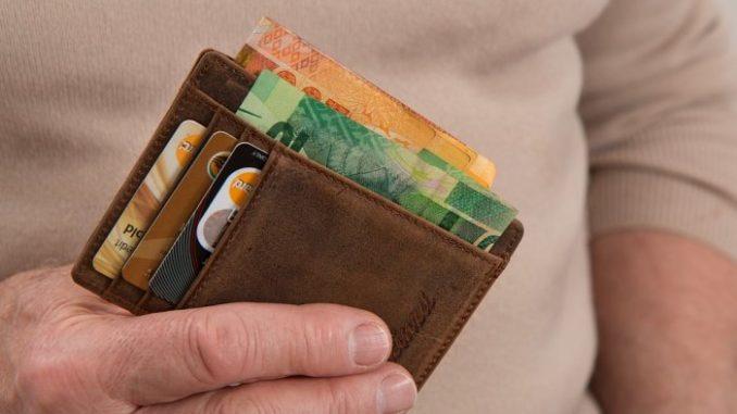 plata bani portofel