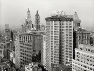 poza New York 1917 acum 100 de ani